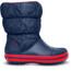 Crocs Winter Puff Boots Kids Navy/Red